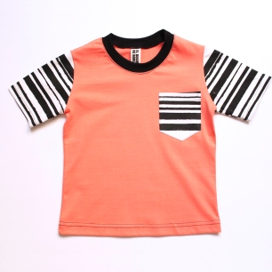 remera mangas rayadas coral talle chico